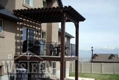 Attached Pergola Gallery, Attached Timber Pergola Images | Western Timber Frame - powell2_12x13