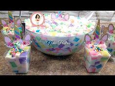 Ensalada de Gelatina Unicornio / Fiesta / Cumpleaños / Unicorn Jello Salad - YouTube