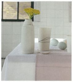 Elle Decoration June 2012 Natural Home Decor, Kitchen Linens, Elle Decor, Table Linens, Linen Bedding, Fiber, June, Pure Products, London