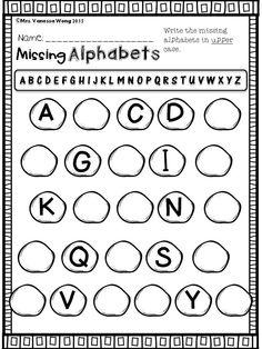 Winter math and literacy centre kindergarten- missing alphabets Literacy Worksheets, Math Literacy, Alphabet Worksheets, Kindergarten Activities, Preschool, Alphabet Charts, Alphabet Letters, Kindergarten Centers, Teaching Kindergarten