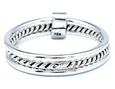 Three Ring Stacking Band Ring 925 Sterling Silver Size 7