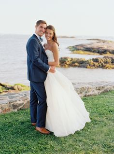 Photography : Charlotte Jenks Lewis Photography | Ceremony : Rye Presbyterian Church | Grooms Suit : Suitsupply Read More on SMP: http://www.stylemepretty.com/new-york-weddings/rye-new-york/2017/03/16/a-romantic-seaside-wedding-for-university-sweethearts/