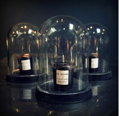 Mini Cloche with Candle Whisky Shop, Abigail Ahern, Cloche, Glass Domes, Black Magic, Christmas Home, Chalk Paint, Whiskey Bottle, Home Accessories