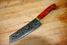 The Black Mingo from William's Knife Company $750. Overall Length: 12.25 inches. Blade Length: 7.5 inches Purpose: Kitchen / Chopping A traditional carbon Damascus chopper, the Black Mingo Damascus Chopper is as mysterious as its name.