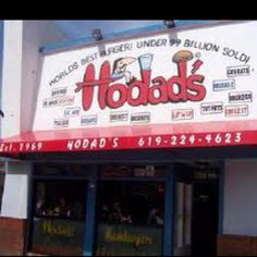 Hodads Ocean Beach CA... Hay bears favorite place for a burger