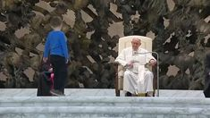 Pope Francis has praised the freedom, albeit undisciplined, of a hearing-impaired child who climbed onto the stage during his general audience to play. The Swiss Guards stood by and let the young boy run around in the Vatican audience hall.