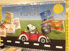 Snoopy on the go for Reading!