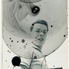 Anna Barriball,Untitled Vll, 2004. Ink and bubble mixture on found photograph, 11.4 x 8.9 cm. Private Collection.
