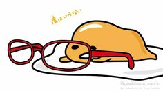 Gudetama with red glasses Sanrio Characters, Cute Characters, Cute Wallpaper Backgrounds, Cute Wallpapers, Japon Tokyo, Zodiac Sign Traits, Cute Egg, Cute Comics, Little Twin Stars