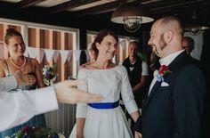 noni- Trauung in der Hafenperle in Hamburg mit einer noni Braut mit dem Brautkleid Shelly (www.noni-mode.de - Foto: Hafenliebe Hochzeitsfotografie)