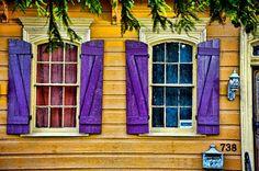 Purple shutters - New Orleans
