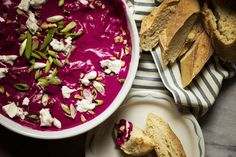 ZA'ATAR-SPICED BEET DIP with yogurt, maple syrup, topped with ...