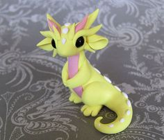 Yellow Scrap Dragon by DragonsAndBeasties on Etsy