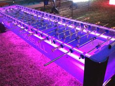 12-ft Team Foosball Table w color changing LED Lights available for corporate events.