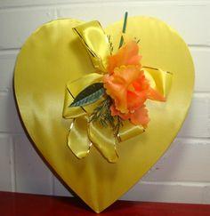 Vintage Valentine Candy Box  Yellow
