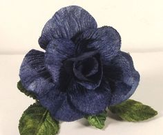 "New Velvet Rose Blue 3"" Millinery Bridal Flower Crowns Corsage Wedding Crafts  #velvetrose #bluerose"