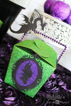 Maleficent Party Ideas - Maleficent Party Favors with Dragons