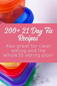 Over 200 21 Day Fix recipes separated by breakfast, lunch & dinner, snack, dessert, & Shakeology to help you be successful on the 21 Day Fix!