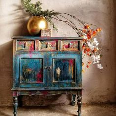 Boho Style Furniture Designs to Enhance the Beauty of Home If you are one of them, who desire to renovate his house with boho style furniture then, you are effortlessly bringing culture and life … Hand Painted Furniture, Funky Furniture, Refurbished Furniture, Paint Furniture, Upcycled Furniture, Unique Furniture, Shabby Chic Furniture, Rustic Furniture, Furniture Makeover