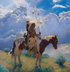 Lakota Legacy, R. Riddick, 2014 Cowboy Artists of America kK Native American Horses, Native American Paintings, Native American Pictures, Native American History, Indian Paintings, American Indians, American Symbols, Abstract Paintings, Art Paintings
