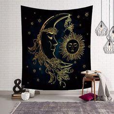 Details über psychedelischen Mond und Sonne Wandbehang Badetuch Art Tapestry Dorm Home Decor - Dorm Tapestry, Tapestry Bedroom, Mandala Tapestry, Moon Mandala, Mandala Blanket, Psychedelic Tapestry, Elephant Tapestry, Indian Tapestry, Living Room Decor