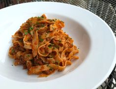 Mint fettuccine with lamb ragu. Hands down the best pasta dish I've ever made.