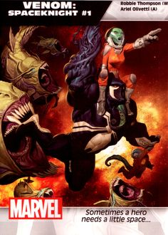 Venom: Spaceknight #1 - Writer: Robbie Thompson,  Artist: Ariel Olivetti