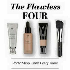 Grab yours today  Glorious face and eye primer  Liquid touch concealer  Liquid touch foundation  Blusher brush And YES you can use that brush to put the liquid foundation on as it drys like a powder what other foundation does that