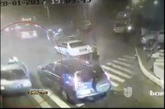 Captado En Cámara:  Momento En Que Conductor Arrastra Policía Con Su Vehículo