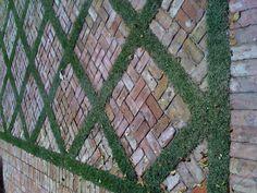 Brick design w/ groundcover.