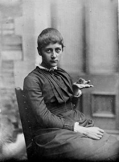 Beatrix Potter with Her Pet Mouse Xarifa, 1885. Cotsen Children's Library. Department of Rare Books and Special Collections. Princeton University Library Photography: Princeton University Library.