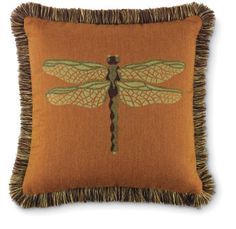 4287: Dragonfly Pillow - Copper (Product Detail) Charleston  Gardens