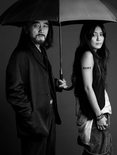Yohji Yamamoto & daughter, Limi Feu, by Robert Maxwell.