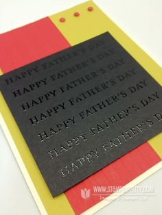 Father's Day card using Best Dad Ever stamp set.  Designed by Mary Fish, Independent Stampin' Up! Demonstrator. Details, supply list and more card ideas on http://stampinpretty.com/2012/06/happy-fathers-day-card-bold-embossed.html
