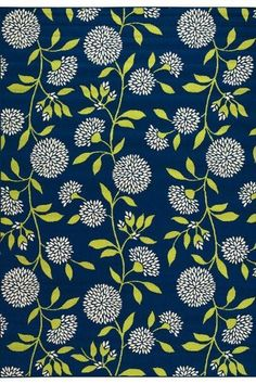 """Aster Area Outdoor Area Rug, 3'7""""x5'6"""", NAVY by Home Decorators Collection. $59.00. The Aster Area Rug from our Patio Outdoor Rug Collection is a floral feast for the eyes. The vivid, bold design will make everyone take notice. Imported from Egypt, this beautifully crafted synthetic rug will enhance your deck or patio and will also make a durable and attractive addition to your kitchen area or family room. Resists fading and mildew. Easy to clean; simply spray with a ..."""