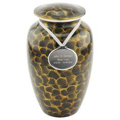 Tiger Eye Cremation Urn for Ashes   Brass & Metal Urns