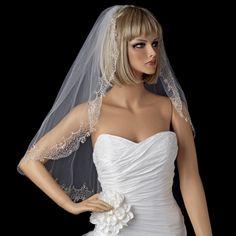 Elegance by Carbonneau Bridal Wedding Single Layer Swarovski Rhinestone Edge Fingertip Length Veil VSW Wedding Veils, Wedding Dresses, Bridal Veils, Wedding Hair, Wedding Attire, Wedding Stuff, Fingertip Veil, Rhinestone Wedding, Crystal Wedding