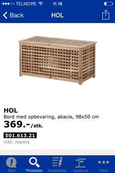 Mulig opbevaring til spil.. En måske Outdoor Furniture, Outdoor Decor, Outdoor Storage, Ikea, Home Decor, Decoration Home, Ikea Co, Room Decor, Home Interior Design