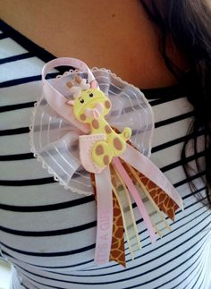 12 BABY SHOWER PINS. Giraffe baby shower favor. Baby Shower Corsage. Baby Shower Party Favor. Baby Shower.. $40.00, via Etsy.