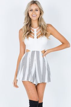 Lined Up playsuit