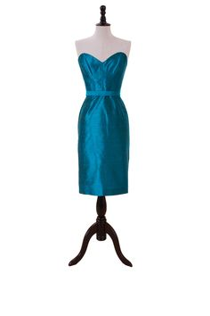 Taffeta Corset Bodice Dress With Pencil Skirt And Sweetheart Neckline