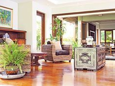 Modern Tropical House Design In The Philippines Modern Filipino Interior, Modern Filipino House, Modern Tropical House, Tropical House Design, Style At Home, Home Interior Design, Interior Architecture, Philippines House Design, High Ceiling Living Room