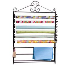 I pinned this Verosa Wall Craft Rack from the Work Wonders event at Joss and Main!  I could probably use a couple of these... No, just one for every day wrapping paper and then the tub to hold all the holiday stuff!