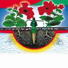 Vanningssystem Til vanning i blomsterkasser fra grontfokus.no