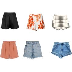 A fashion look from April 2014 featuring high-waisted shorts, distressed shorts and high waisted shorts. Browse and shop related looks. High Waisted Shorts, Casual Shorts, Short Waist, Distressed Shorts, Paris Travel, Capsule Wardrobe, Fashion Looks, Shopping, Women