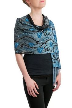 Opulent Luxury Scarf Shawl is woven from the finest 50% Cotton & 50% Polyester which gives you the right amount of coverage during the colder seasons.
