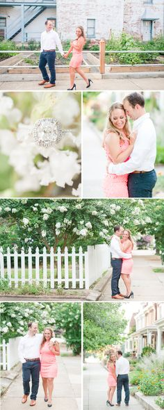A Summer Downtown Richmond Shockhoe Bottom and Carytown Engagement Session by Katelyn James Photography