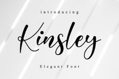 Kinsley Script is a beautifully light script font with a silky smooth feel. It will add plenty of class and... Best Calligraphy Fonts, Handwritten Script Font, Script Logo, Cursive Fonts, Monogram Fonts, Monogram Letters, Monograms, Classy Fonts, Elegant Fonts Free