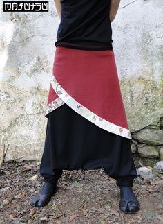 Harem pants kimono japanese sarouel JRB. via Etsy. (the over skirt,  not the pants)