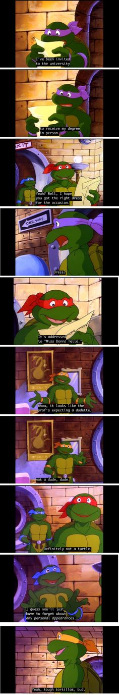 Miss Donna Tello<<<haha I don't really watch this version of the turtles but this is funny XD